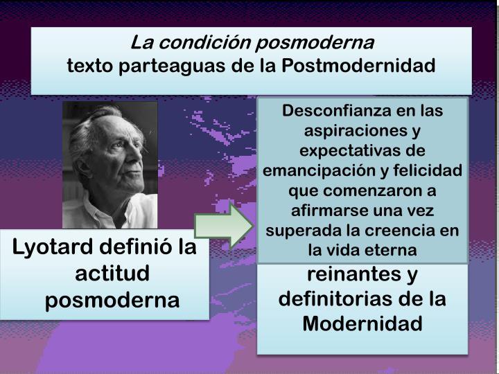 La condición posmoderna
