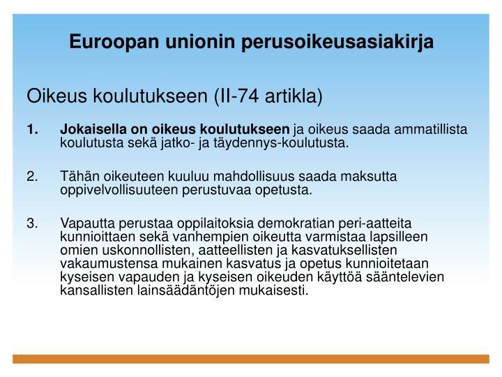 Euroopan unionin perusoikeusasiakirja