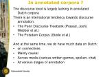 in annotated corpora