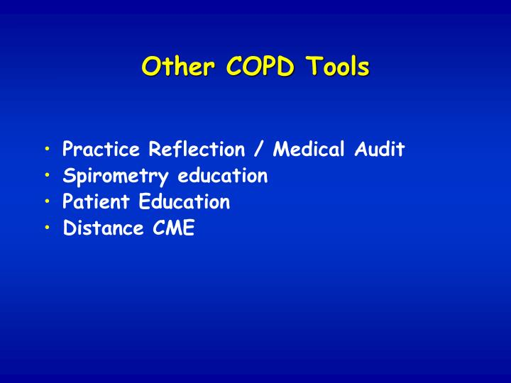 reflection on copd Read caring for a patient with copd: a reflective account, nursing standard on deepdyve, the largest online rental service for scholarly research with thousands of academic publications available at your fingertips.