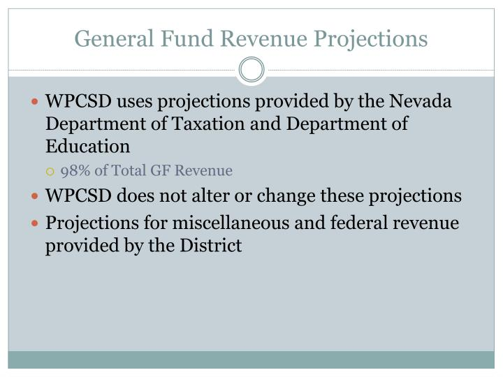 General Fund Revenue Projections