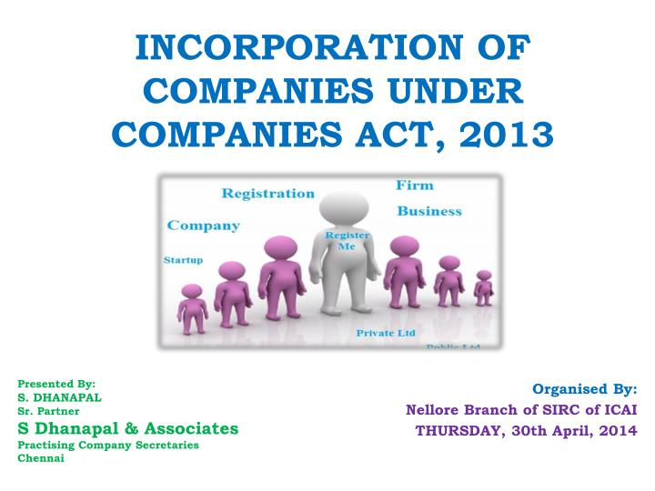 incorporation of companies under companies act 2013 n.