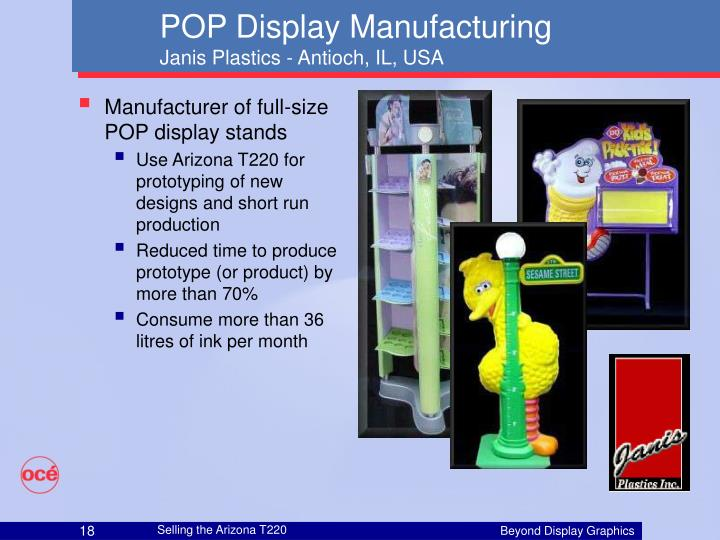 Manufacturer of full-size POP display stands