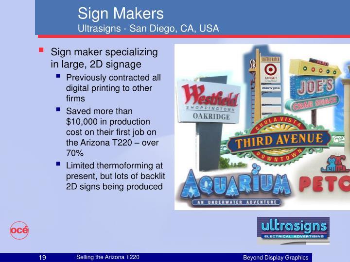 Sign maker specializing in large, 2D signage