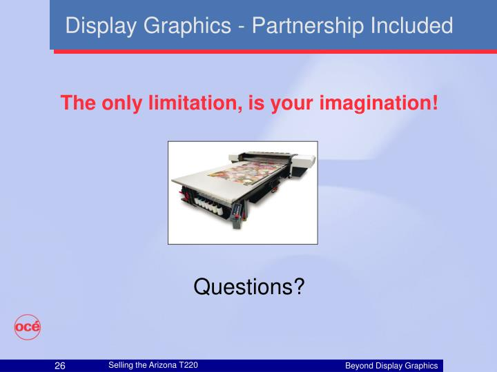 Display Graphics - Partnership Included