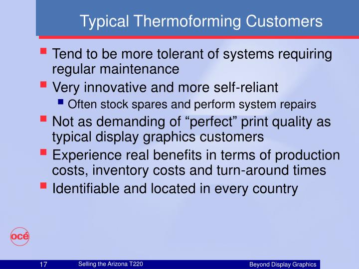 Typical Thermoforming Customers