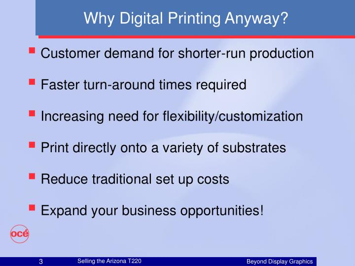 Why digital printing anyway