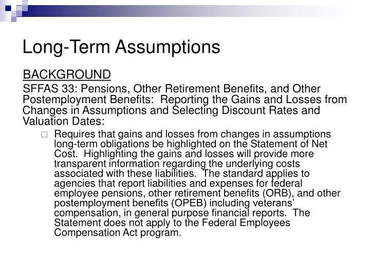 Long term assumptions1