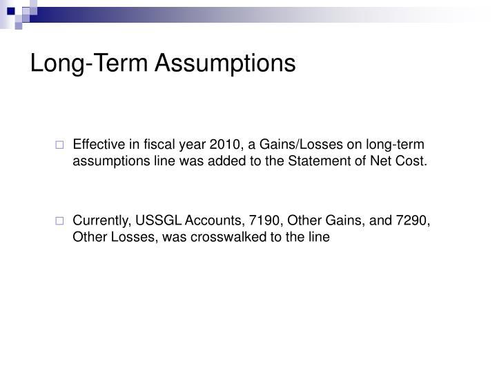 Long term assumptions2