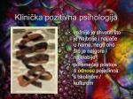 klini ka pozitivna psihologija