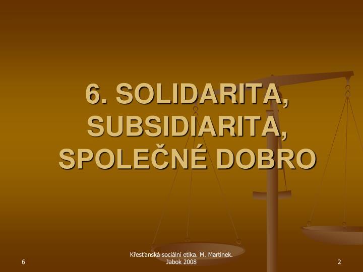 6 solidarita subsidiarita spole n dobro