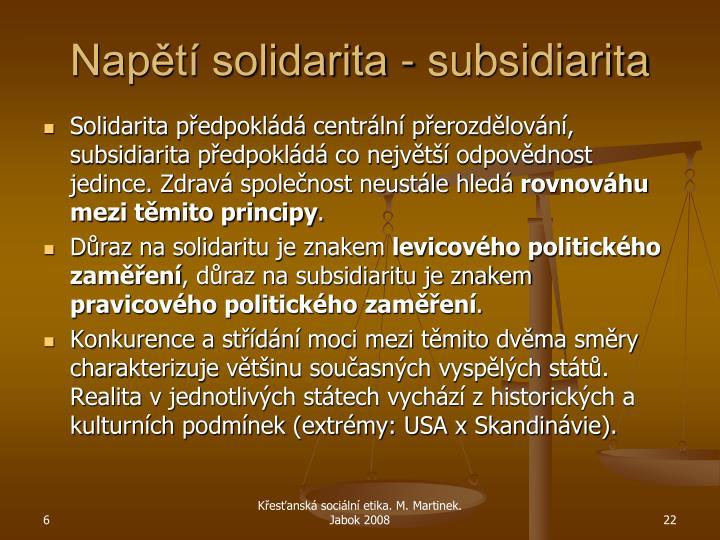 Napětí solidarita - subsidiarita