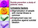 suicide prevention a study of patients views1