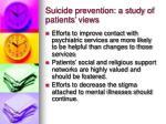 suicide prevention a study of patients views2