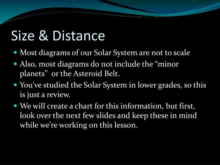 Size & Distance