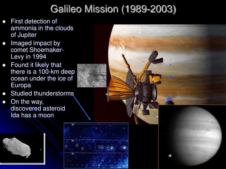 Galileo mission 1989 2003