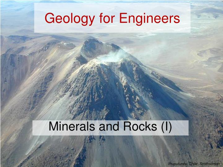 Geology for engineers