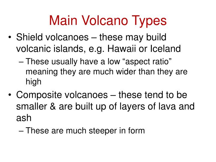 Main Volcano Types