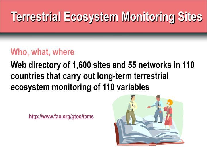 Terrestrial Ecosystem Monitoring Sites