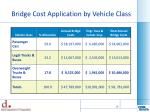 bridge cost application by vehicle class