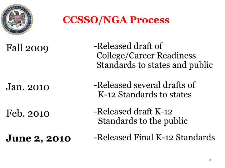 CCSSO/NGA Process