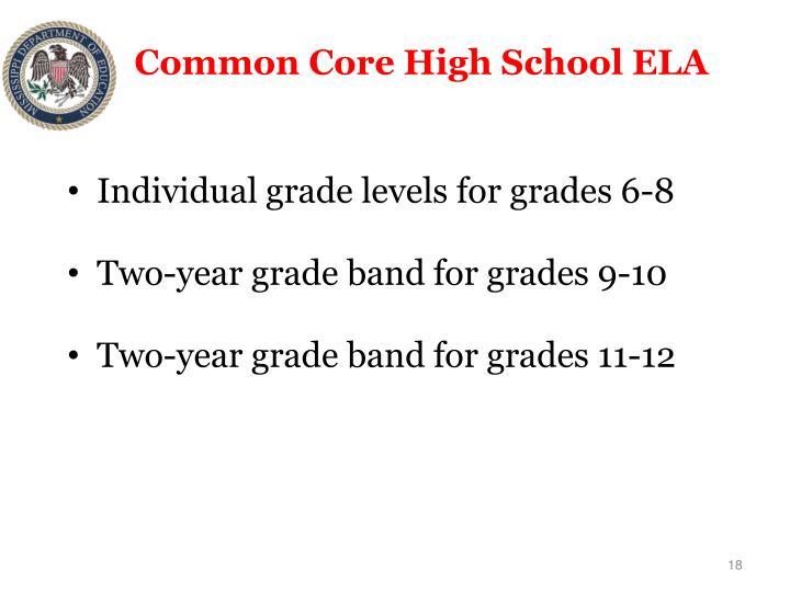 Common Core High School ELA