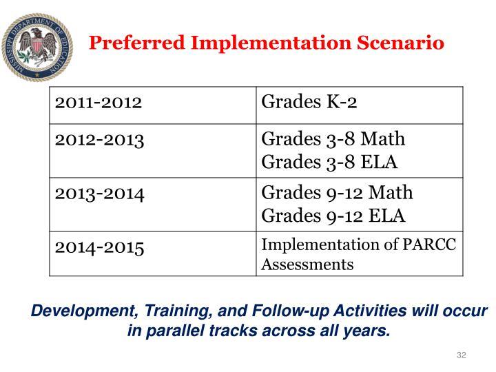 Preferred Implementation Scenario