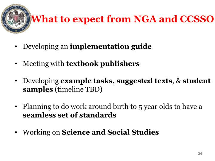 What to expect from NGA and CCSSO