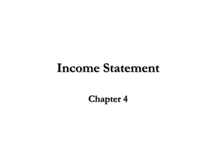income statement n.