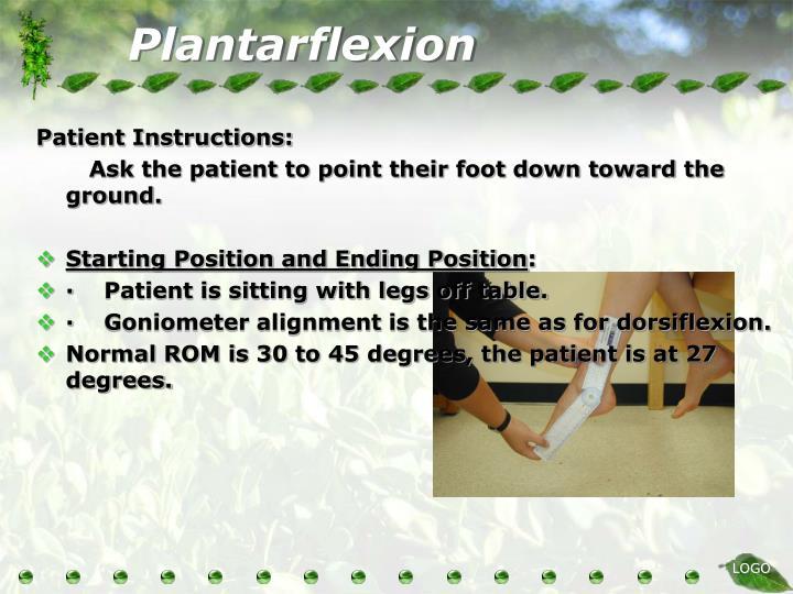 Plantarflexion