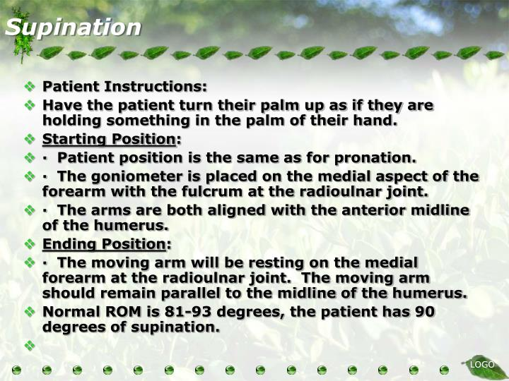Supination