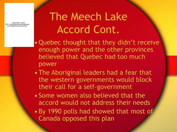 The Meech Lake Accord Cont.