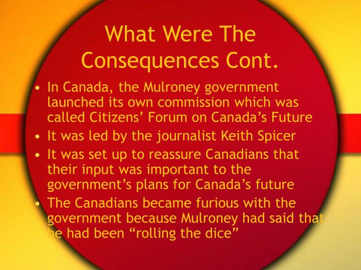 What Were The Consequences Cont.