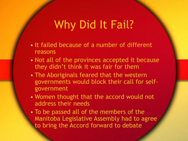 Why Did It Fail?