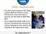 other involvement
