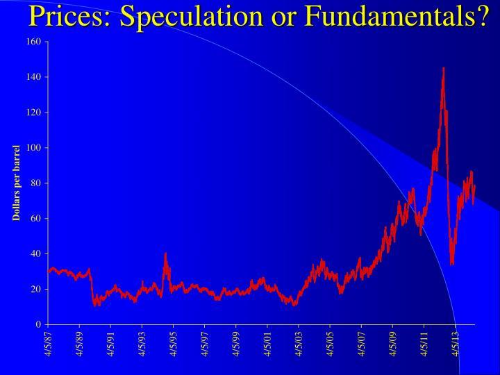 Prices: Speculation or Fundamentals?