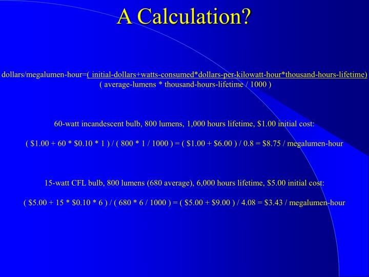 A Calculation?