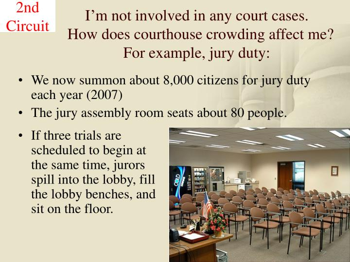 I'm not involved in any court cases.