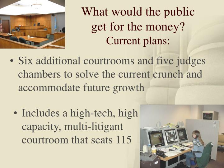 What would the public get for the money?