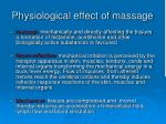 physiological effect of massage
