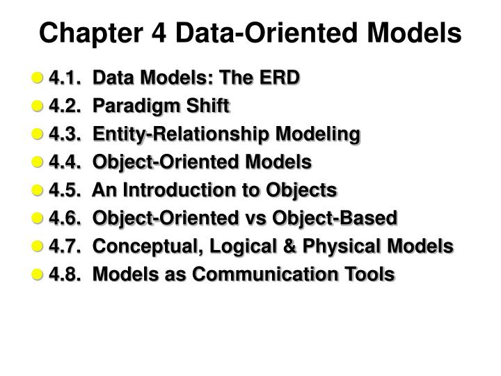 chapter 4 data oriented models n.