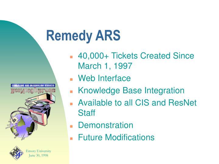 Remedy ARS