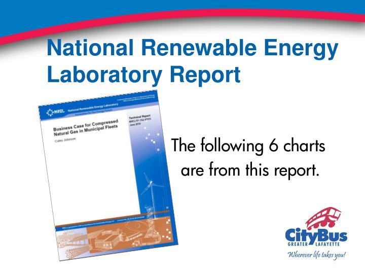 National Renewable Energy Laboratory Report