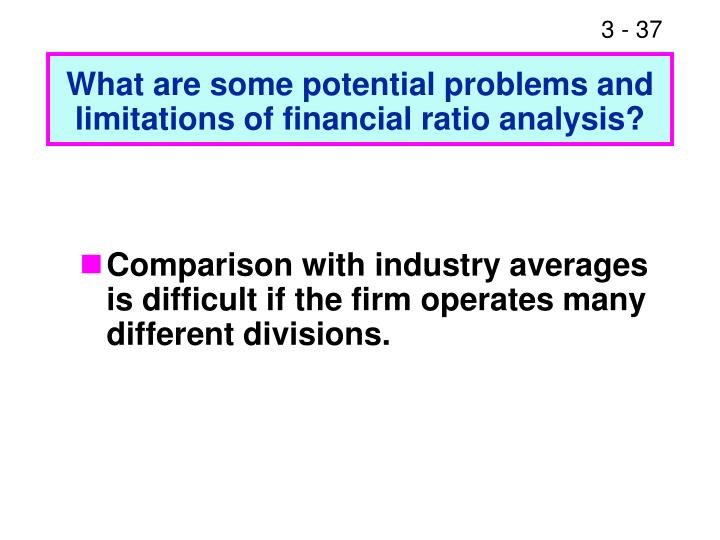 limitations of using ratio analysis