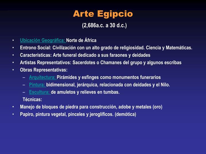 Arte egipcio 2 686a c a 30 d c