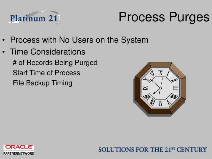 Process Purges