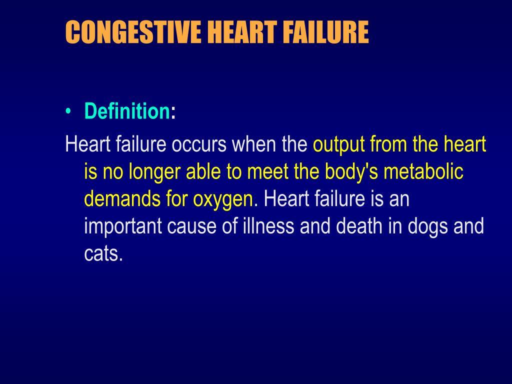 ppt - congestive heart failure powerpoint presentation - id:5856080