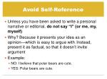avoid self reference