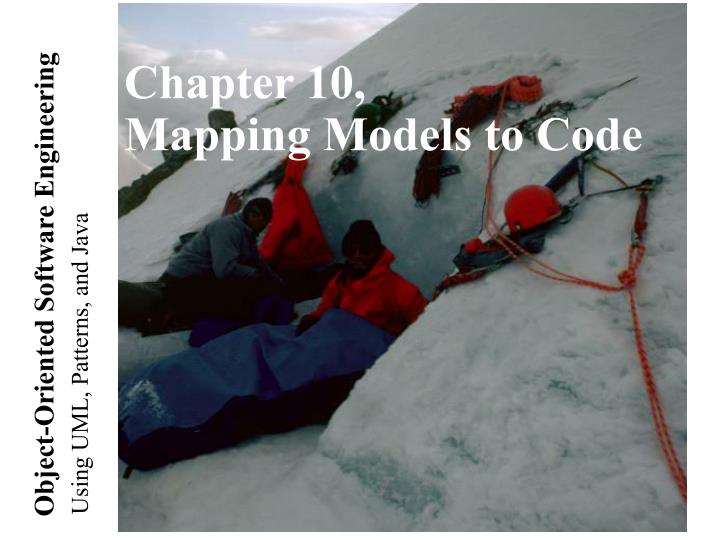 chapter 10 mapping models to code