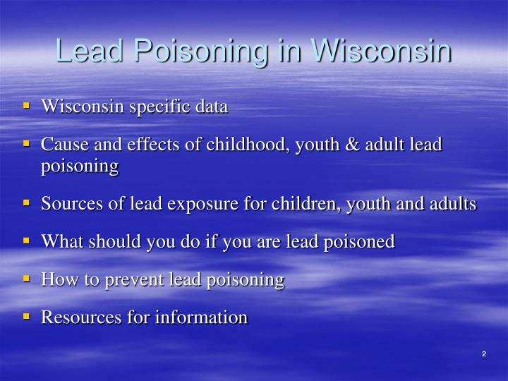 Lead poisoning in wisconsin